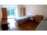 "£80 pppw ALL INCLUDED. "" DOUBLE/ TWIN ROOM only 5 minutes walking from MANOR HOUSE"".HARINGEY"