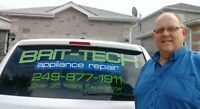 APPLIANCE REPAIR BARRIE-ANGUS-INNISFIL-ORILLIA and AREAS