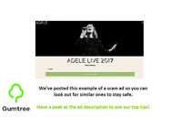 2 x Adele Tickets - Sunday 2nd July LAST EVER SHOW WEMBLEY STADIUM -- Read ad before replying!