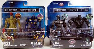 Real-Steel-DELUXE-2-PACKS-ATOM-ZEUS-MIDAS-NOISY-BOY-NIP-4-figures-WRB-robot