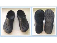 Black croc type shoes size 8/42
