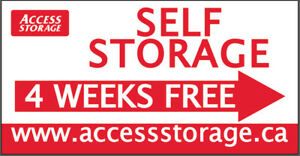 Self Storage, 4 weeks Free, No Commitment! 780-469-8866 Ext.2.