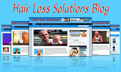 Hair Loss Blog Self Updating Website Clickbank Amazon Adsense   Lot More Income