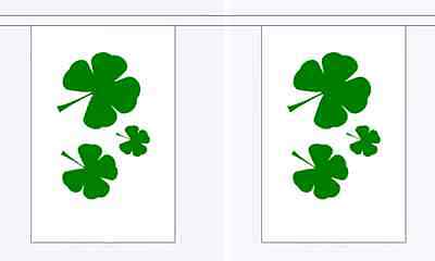 Shamrock Flag Bunting - 3m 6m 9m Metre - St Patricks Day Irish Ireland - Irish Flag Bunting