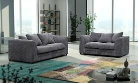 JET DYLAN JUMBO CORD FABRIC 3 AND 2 SEATER ALSO AVAILABLE IN CORNER BRAND NEW // SAME DAY DELIVERY