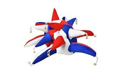 Rot, Weiß und Blau Unterstützer Narren-Hut - Kostüm (Rot, Weiß Und Blau Kostüme)