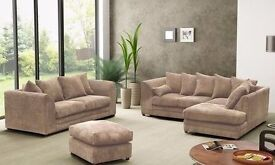 SUPER JUMBO CORD DYLAN CORNER & 3/2 SEATER BRAND NEW SOFA // SAME DAY DELIVERY ALL OVER LONDON //