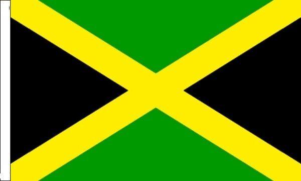 Jamaica Sleeved Flag suitable for Boats 45cm x 30cm