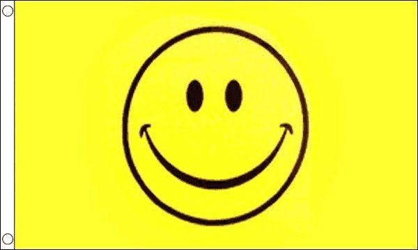 240cm x 150cm Giant Yellow Happy Face Festival//Party 8ft x 5ft Flag