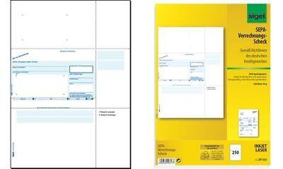 """sigel Bankformular """"PC-Sepa-Verrechnungs-Scheck"""", A4"""