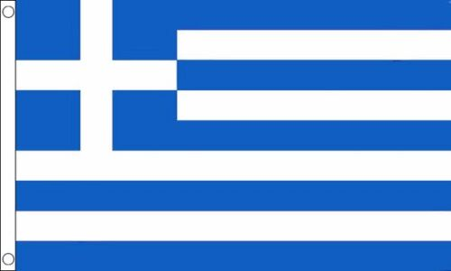Greece 5ft x3ft (150cm x 90cm) 100% Polyester Flag & 2 eyelets