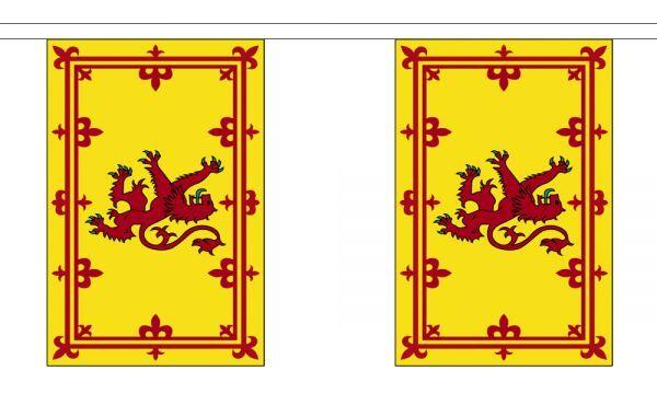 Scotland Lion Flag Bunting - 3m 6m 9m Metre Length 10 20 30 Flags - Scottish