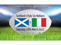 1 Scotland v Italy RBS Six nations 2017 ticket - Murrayfield Edinburgh - Saturday 18th March