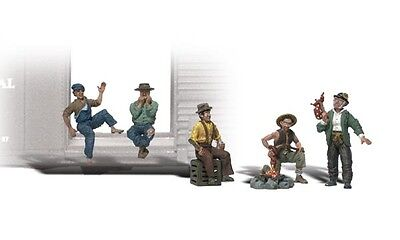 N 1:160 scale FIVE HOBOS Hobo Figures with Accessories for sale  Batavia