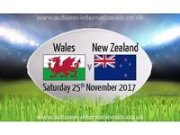 Wales vs New Zealand Rugby tickets x 2