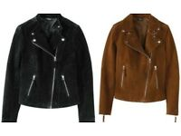 Black real suede jacket By Heidi Klum for Lidl