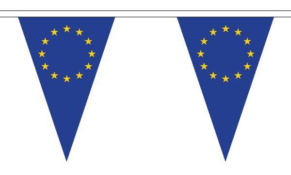 10 metre Long Bunting European Union Triangular Bunting 27 flags EU