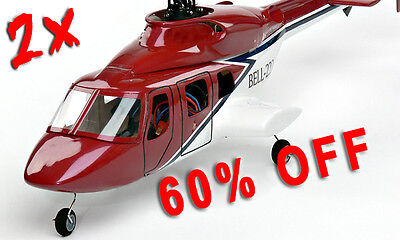 (DOUBLE OFFER ! ! ! 2x E-Sky Bell 222 Scale cabin for Belt CP )