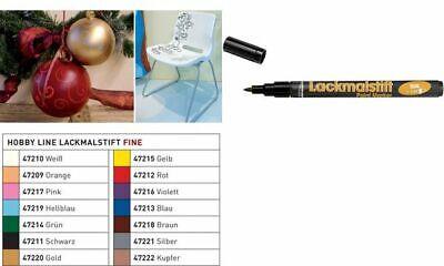 KREUL Lackmarker fine Hobby Line Lackmalstift Copic-Marker Metallmarker silber