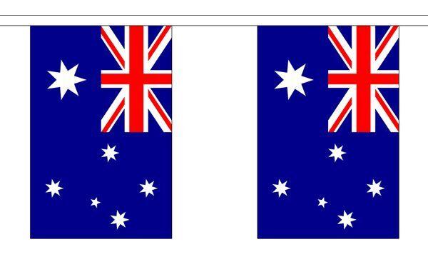 Australia Flag Bunting - 3m 6m 9m Metre Length 10 20 30 Flags - Polyester