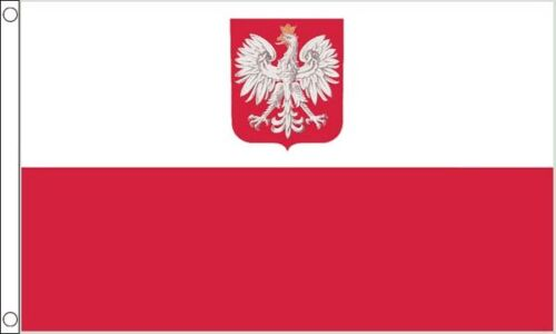Poland Crest 5ft x 3ft (150cm x 90cm) Flag Banner