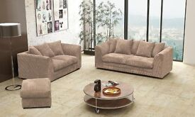 *Express Delivery* Brand New Italian Style Orignal JUBO CORD Fabric Sofas +30 DAY CASH BACK GUARANTY