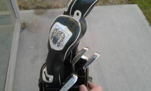 Golf bag and 6 clubs
