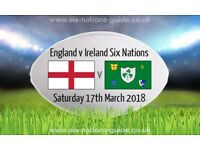 ENGLAND V IRELAND - 4 TICKETS - BLOCK L13 - RUGBY SIX NATIONS 2018
