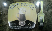 """'Cafe Theme"""" 10"""" Porcelain Cake Plate with Server $5 each"""