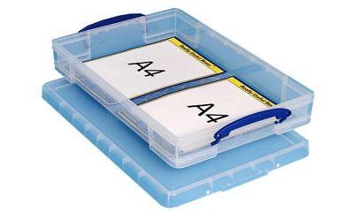 Really Useful Box Aufbewahrungsbox 10 Liter, transparent z.B für DIN A3 Papier ()