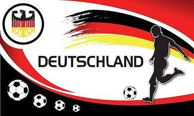 Adler schwarz rot gold Fan Fahne Flagge XXL 250 x 150 cm (Fußball-adler)