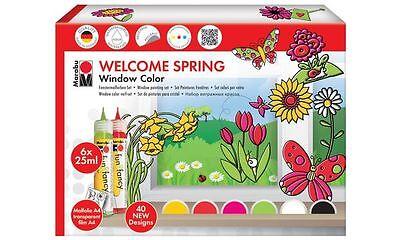 "Marabu Window Color fun&fancy ""Welcome Spring"", 6er Set"