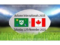 2x Tickets Ireland V Canada 12th Nov Aviva Stadium