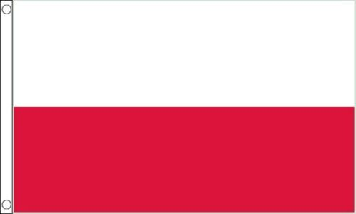 Poland 5ft x 3ft (150cm x 90cm) 100% Polyester Flag