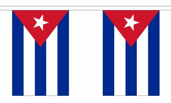 Cuba Flag Bunting - 3m 6m 9m Metre Length 10 20 30 Flags - Polyester