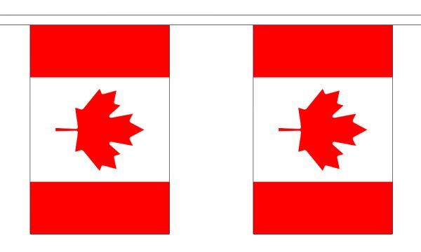 Canada Flag Bunting - 3m 6m 9m Metre Length 10 20 30 Flags - Canadian