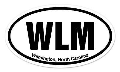 WLM Wilmington North Carolina Oval car window bumper sticker decal 5