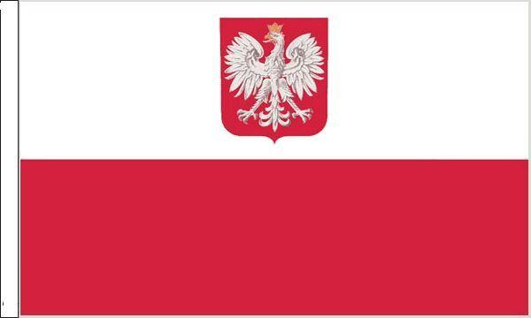 Poland Crest Sleeved Flag suitable for Boats 45cm x 30cm