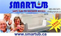 SMARTUB- safe tub-to-shower access
