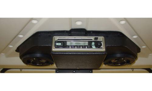 EZGO TXT GOLF CART RADIO CONSOLE - BLACK