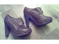 Brand new leather shoes in size 7