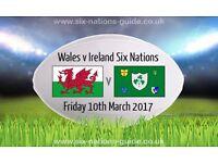 Wales V Ireland six nations tickets