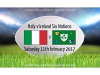 Italy V Ireland 6 Nations Tickets (x2) - In Italy