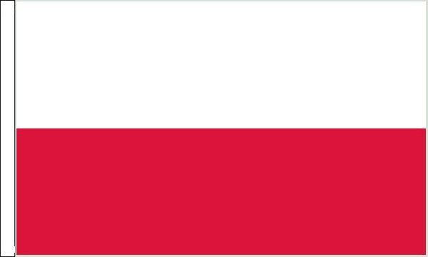 Poland Sleeved Flag suitable for Boats 45cm x 30cm