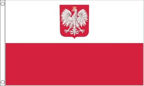 Poland Crest 3ft x2ft (90cm x 60cm) Flag