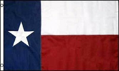 5x8 Embroidered Sewn State of Texas 600D Nylon Flag 5'x8'
