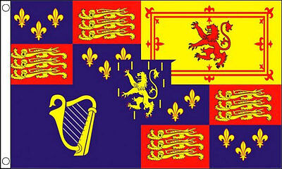 Standard-flag Banner (ROYAL STANDARD FLAG 1689-1702 5' x 3' King William lll 3rd and Queen Mary Banner)