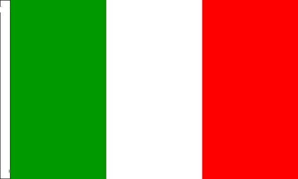 Italy Sleeved Flag suitable for Boats 45cm x 30cm