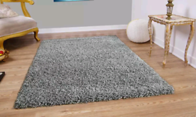 New Verona shaggy rug colour Grey 160cms x 230cms