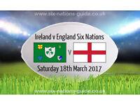 Ireland v England 6 Nations 2017, Dublin 18th March - Premium Level